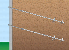 helical tiebacks for wall repair in atlanta