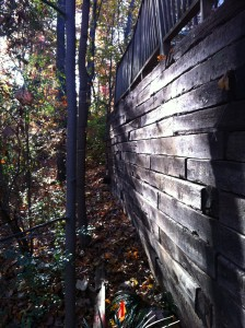 Retaining wall leaning Towards My Property . : HomeImprovement